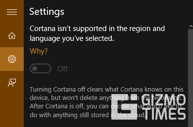 Cortana Not Available
