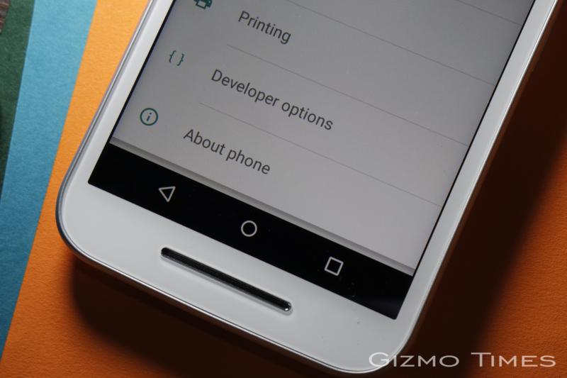 Motorola Moto G 3rd gen. settings