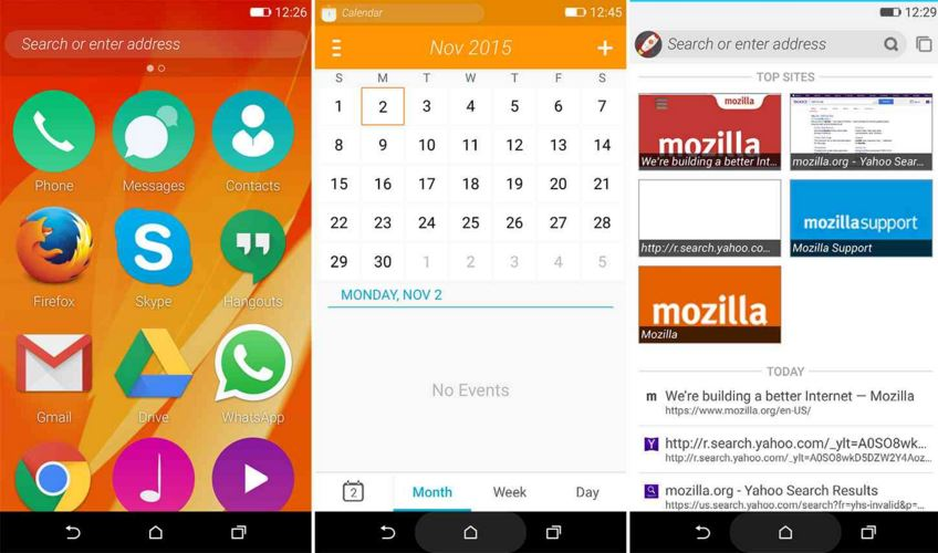 Firefox OS 2.5 Developers preview for Android phones