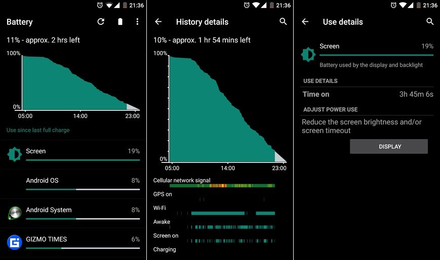 OnePlus X Battery Stats1