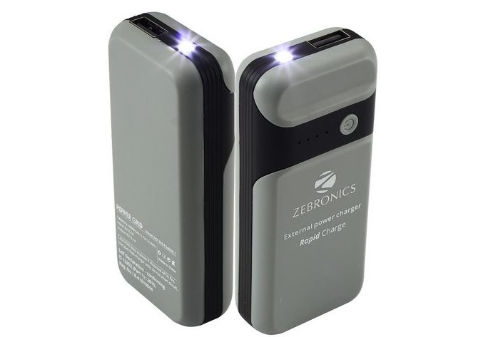 Zebronics 4000 mAh powerbank with LED light