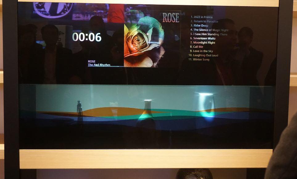 Panasonic's Transparent display at CES 2016