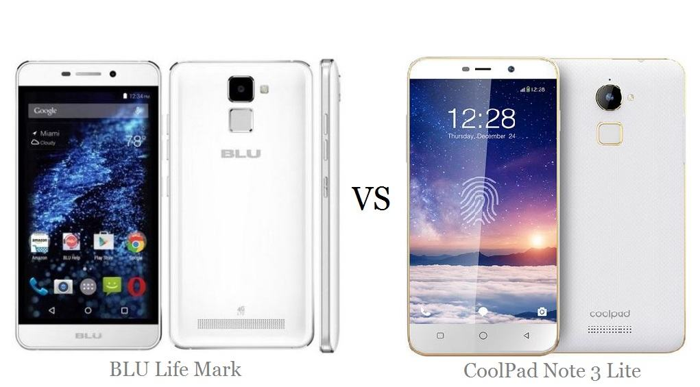 BLU Life Mark vs Coolpad Note 3 Lite comaprison