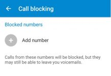 Android N call or number Blocking feature