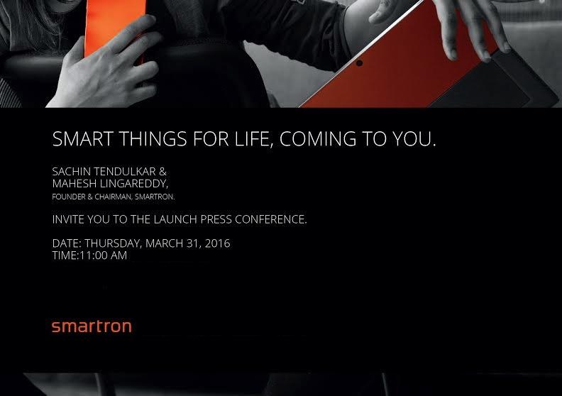 Smartron India brand launch invite