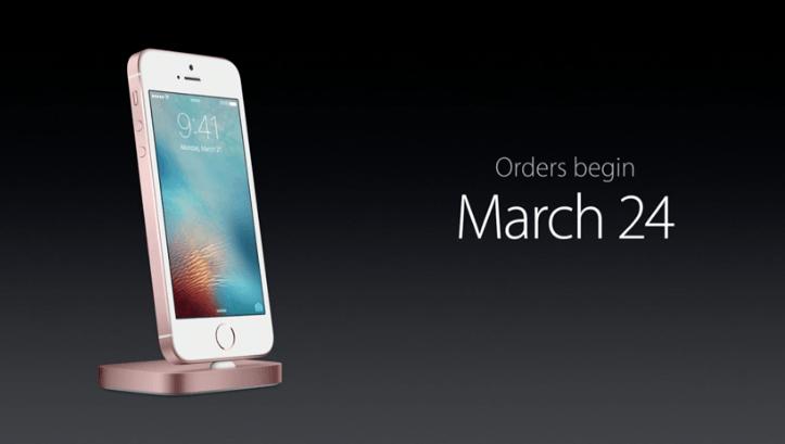iPhone SE pre-order date