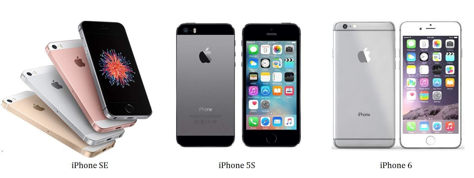 iphone 6 vs se size