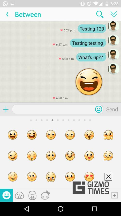 Between Emoticons