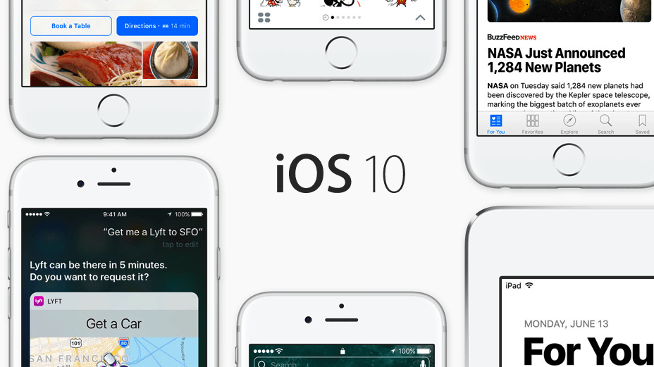 iOS 10 interface