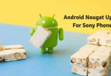 Android Nougat Update for Sony Phones