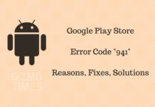 Google Play Store 941 Error