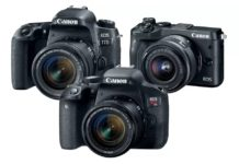 Canon Rebel T7i 77D M6 Cameras 2017