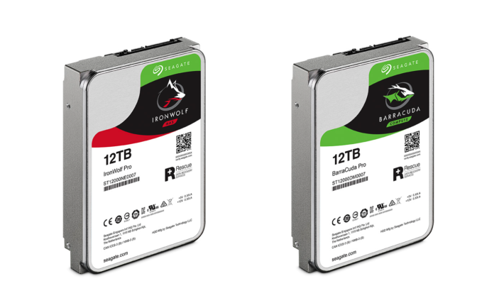 Seagate Ironwolf Pro and Barracuda Pro