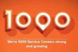 1000th service center