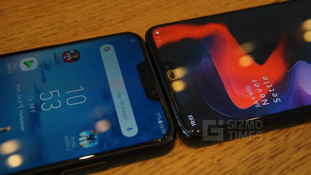 ASUS ZenFone 5z vs OnePlus 6 Notch