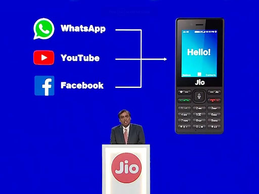 JioPhone WhatsApp YouTube Facebook