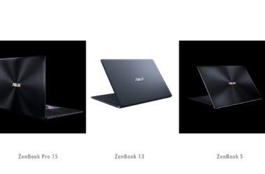 ASUS ZenBook Pro 15, ASUS ZenBook S, ASUS ZenBook 13