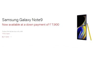 Airtel Online store Galaxy Note 9 offer