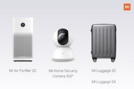 Xiaomi Mi Purifier 2S Xiaomi Mi Luggage Xiaomi Mi Home Security Camera 360°