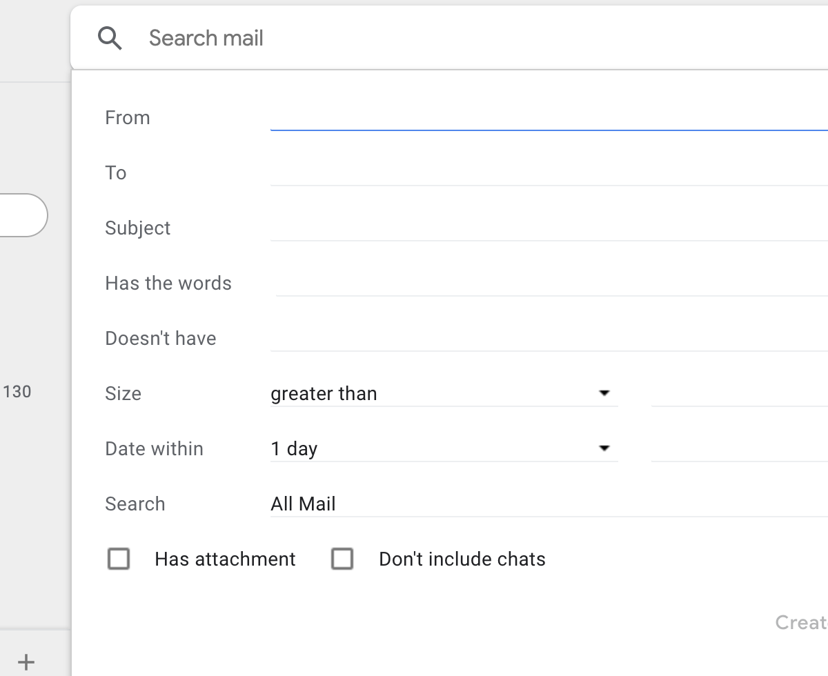 Gmail Advanced Search