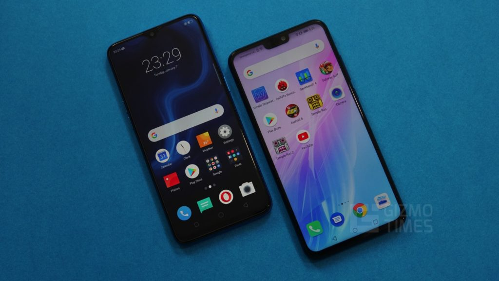 Realme U1 vs Honor 8X Display