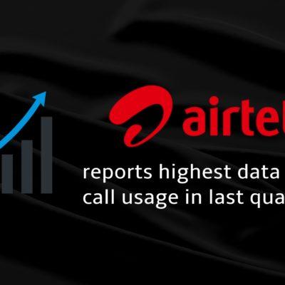 Airtel data usage reports