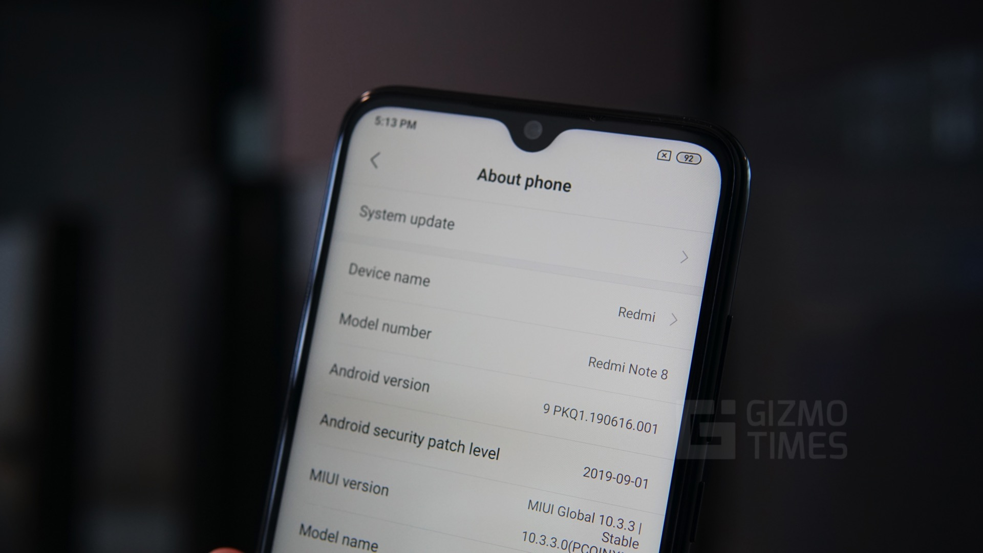 Redmi Note 8 about