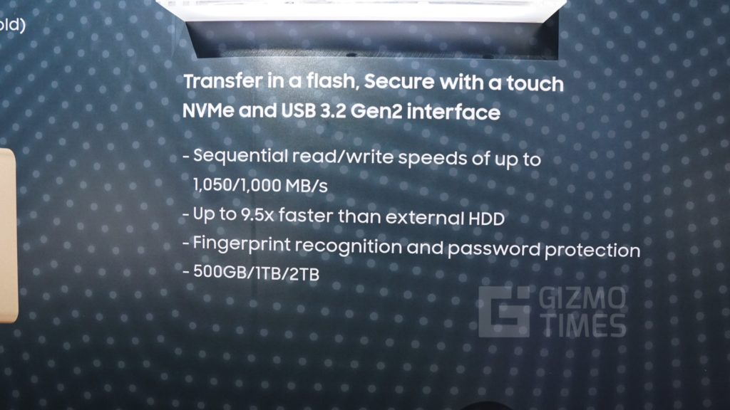 Samsung SSD T7 Touch speed