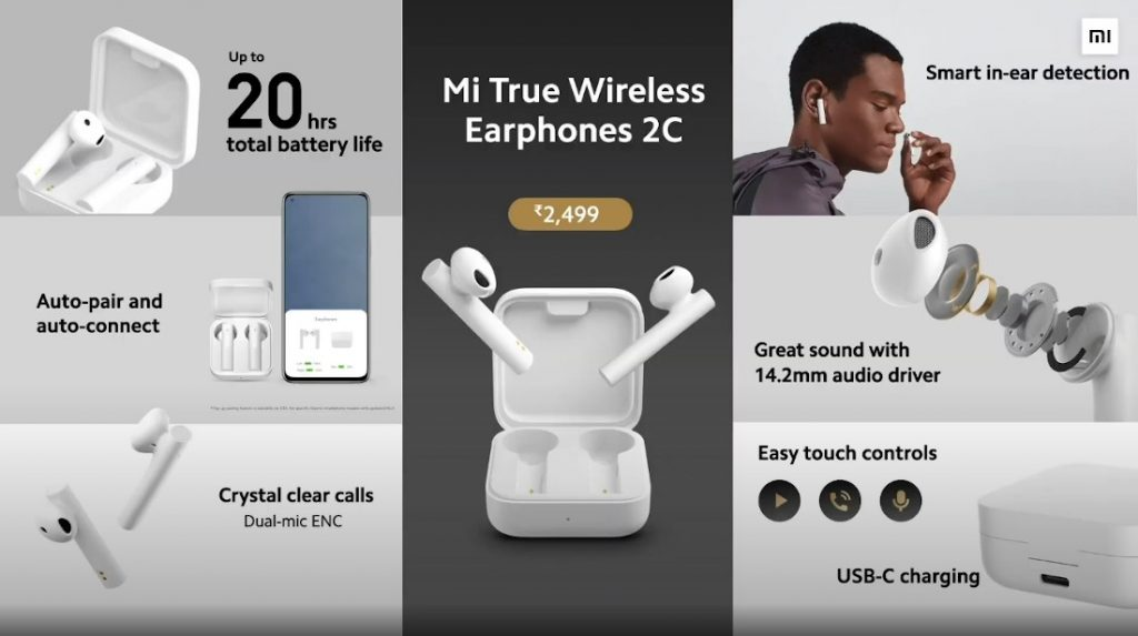 Mi True Wireless Earphones 2C Specs